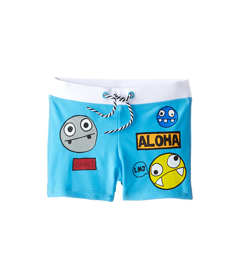 Little Marc Jacobs - Character Print Swim Trunks (Toddler/Little Kid) (Iceberg) Boy's Swimwear