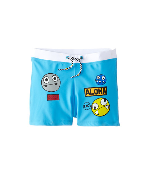 Little Marc Jacobs - Character Print Swim Trunks (Little Kid/Big Kid) (Iceberg) Boy's Swimwear