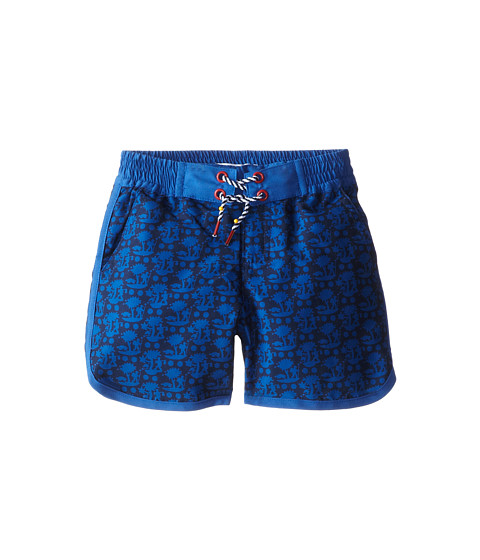 Little Marc Jacobs - Printed Woven Swim Trunks (Toddler/Little Kid) (Med Blue) Boy's Swimwear