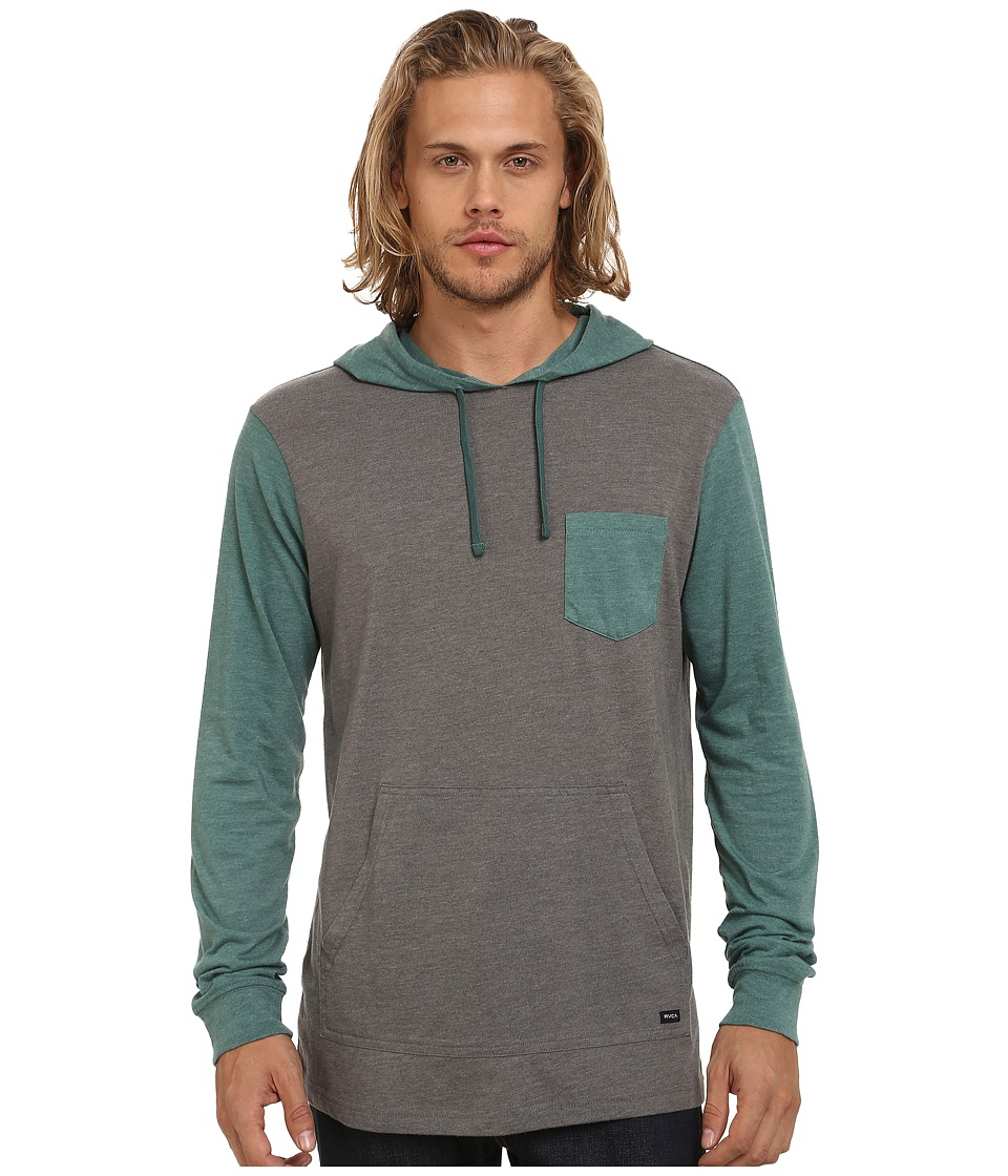 RVCA - Set Up Hoodie (Green Noise) Men's Sweatshirt