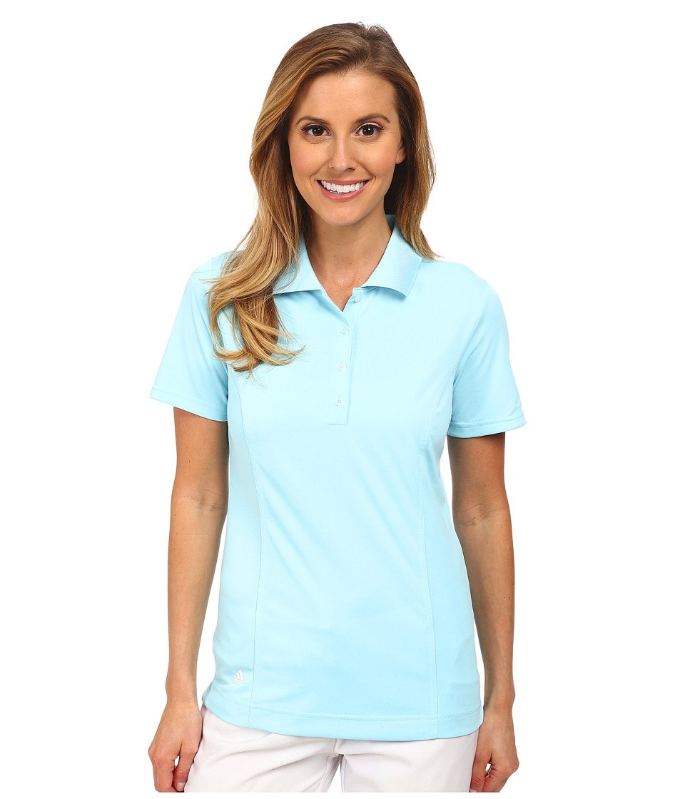 adidas Golf - Climalite Essentials Short Sleeve Solid Polo '15 (Frost Blue/White) Women's Short Sleeve Knit