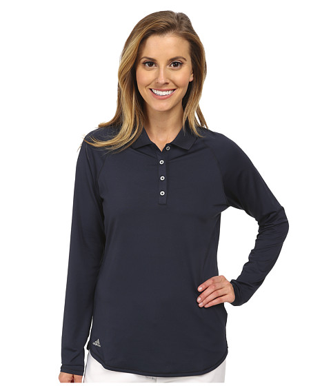 adidas Golf - Climalite Essentials Ultraviolet Protection Factor Long Sleeve Polo '15 (Night Navy) Women's Long Sleeve Pullover