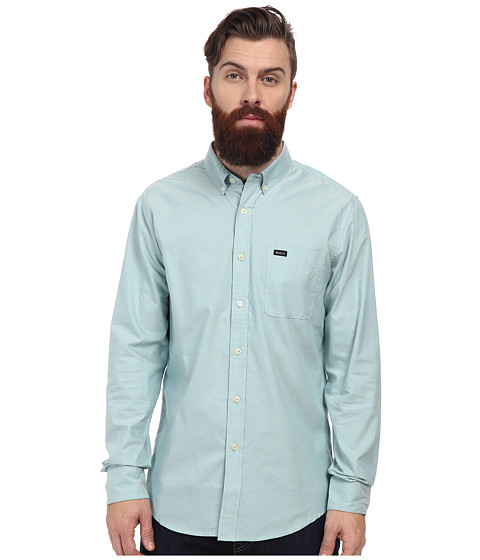 RVCA - That'll Do Oxford L/S (Peacock) Men's Long Sleeve Button Up