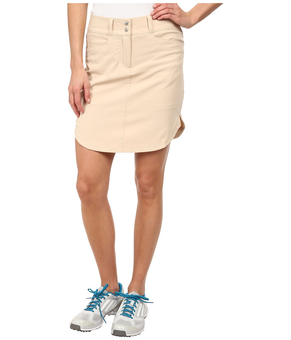 adidas Golf - Essentials 3-Stripes Skort '15 (Lite Khaki) Women's Skort