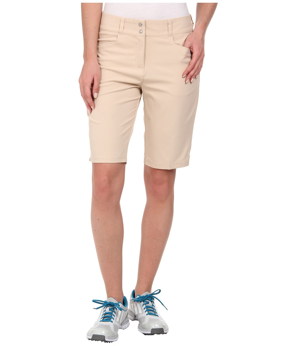 adidas Golf - Essentials Lightweight Bermuda Short '15 (Lite Khaki) Women's Shorts plus size,  plus size fashion plus size appare