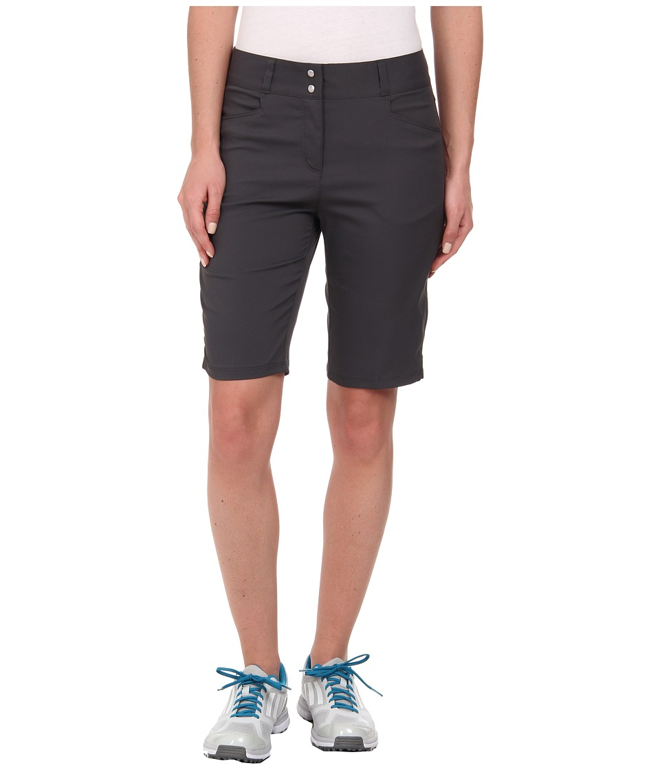 adidas Golf - Essentials Lightweight Bermuda Short '15 (Dark Grey Heather Solid Grey) Women's Shorts plus size,  plus size fashion plus size appare