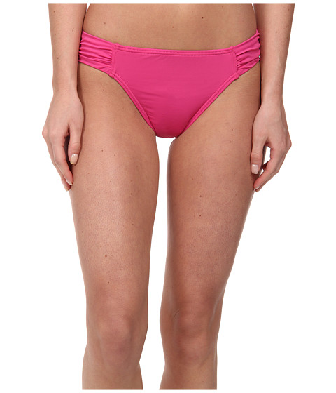 Tommy Bahama - Pearl Solids Side Shirred Hipster Bottom (Bright Pink) Women's Swimwear