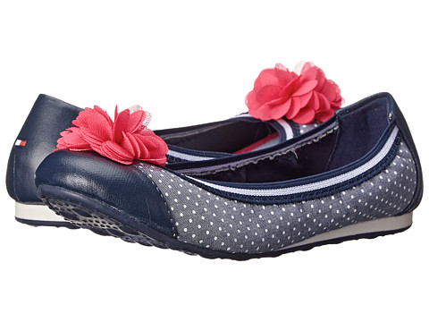 Tommy Hilfiger Kids - Dana Skimmer (Little Kid/Big Kid) (Navy/White Polka Dot) Girls Shoes