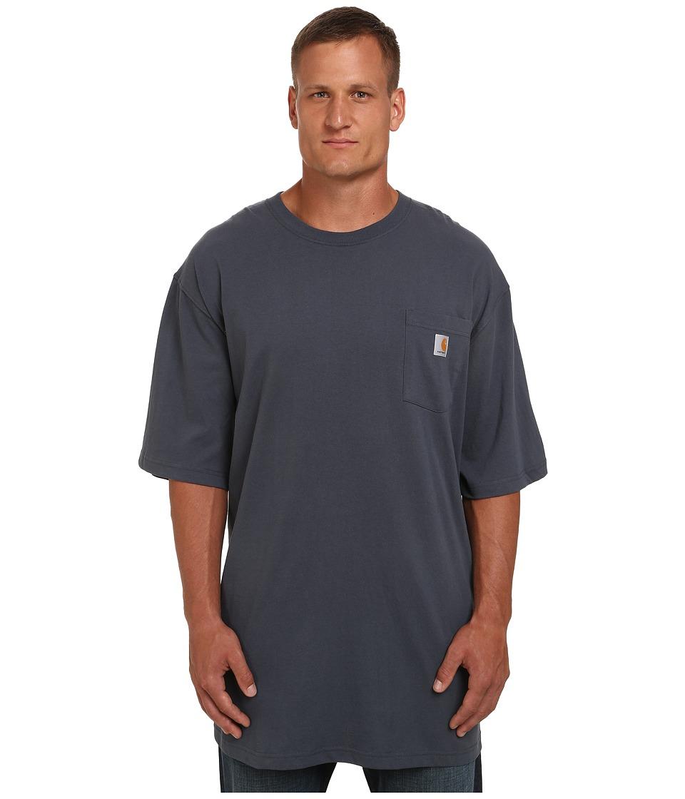 Carhartt - Big Tall Workwear Pocket S/S Tee (Bluestone) Men's Short Sleeve Pullover