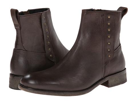 John Varvatos - Rocker Button Boot (Dark Brown) Men's Boots