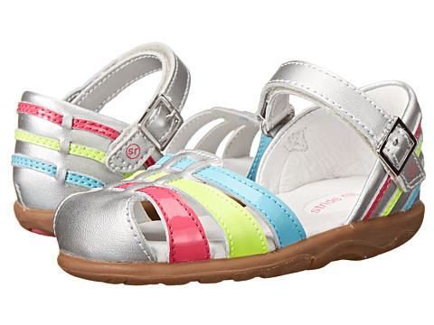 Stride Rite - SRT Jaya (Toddler) (Silver) Girls Shoes