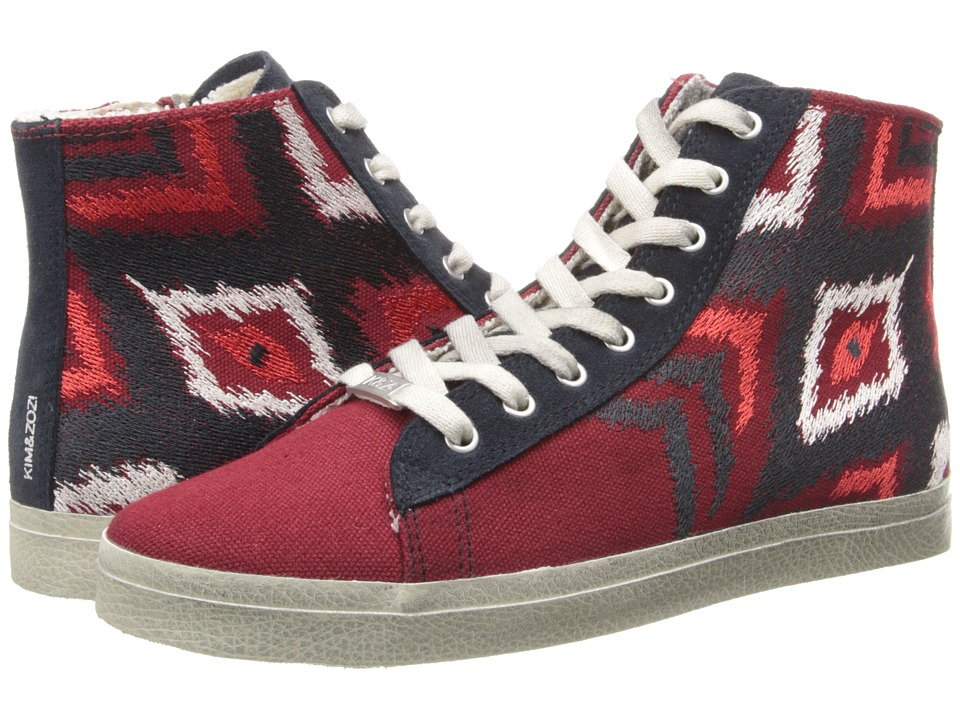 Kim & Zozi - Ikat (Burgundy) Women's Lace up casual Shoes