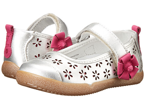 Stride Rite - Medallion Collection Neela (Toddler) (Silver/Pink) Girls Shoes