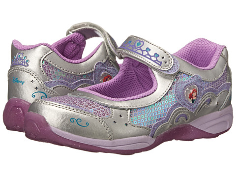 Stride Rite - Disney Wish Lights Ariel Mary Jane (Little Kid) (Silver/Lilac) Girl