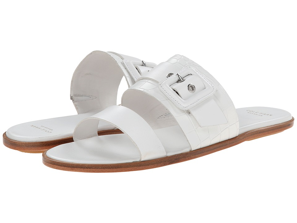 Cole Haan - Amavia Sandal (Optic White/Optic White Croc) Women's Slide Shoes