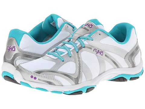 Ryka - Influence (White/Silver/Teal) Women's Shoes