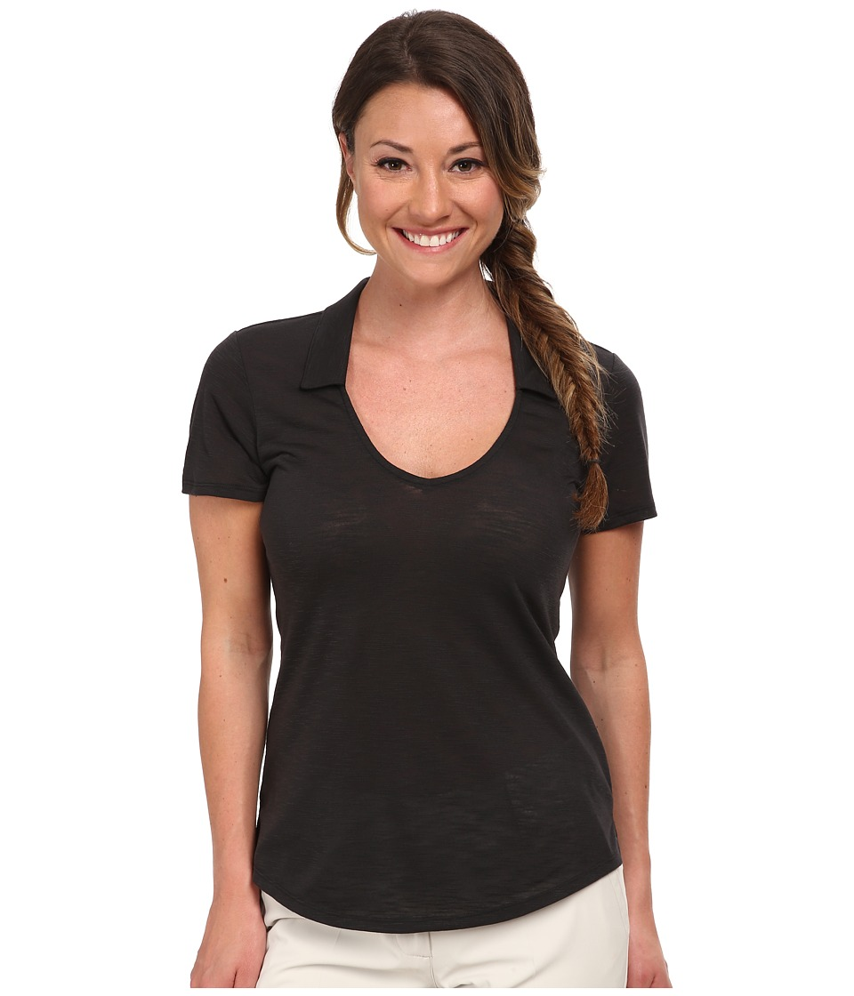 adidas Golf - Climalite Essentials Slub Polo '15 (Black) Women's T Shirt