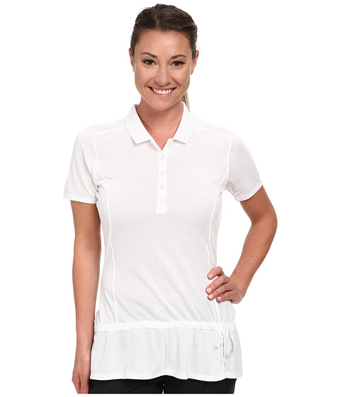adidas Golf - Climalite Advance Pique Short Sleeve Polo '15 (White) Women's Short Sleeve Knit