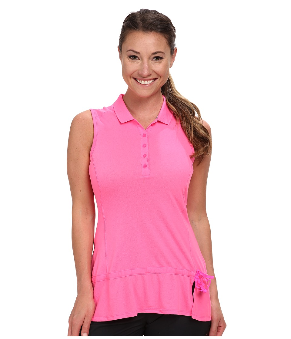adidas Golf - Climalite Advance Pique Sleeveless Polo '15 (Scorch Pink) Women's Sleeveless