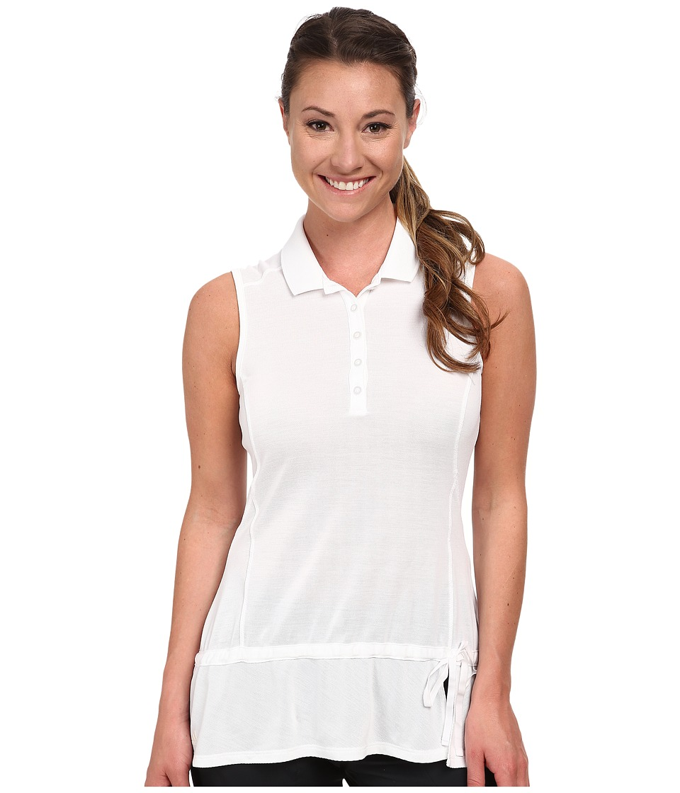adidas Golf - Climalite Advance Pique Sleeveless Polo '15 (White) Women's Sleeveless