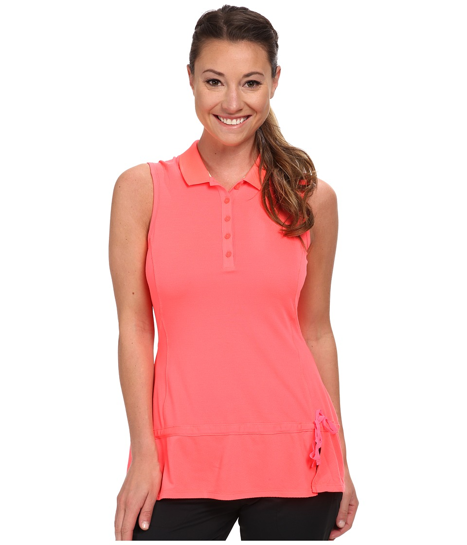 adidas Golf - Climalite Advance Pique Sleeveless Polo '15 (Flash Red/Faded Sun) Women's Sleeveless