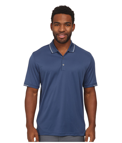adidas Golf - CLIMACHILL Solid Polo (Night Marine/White) Men's Short Sleeve Knit