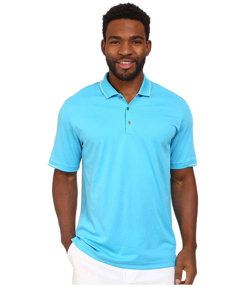 adidas Golf - CLIMACHILL Solid Polo (Intense Teal/White) Men's Short Sleeve Knit