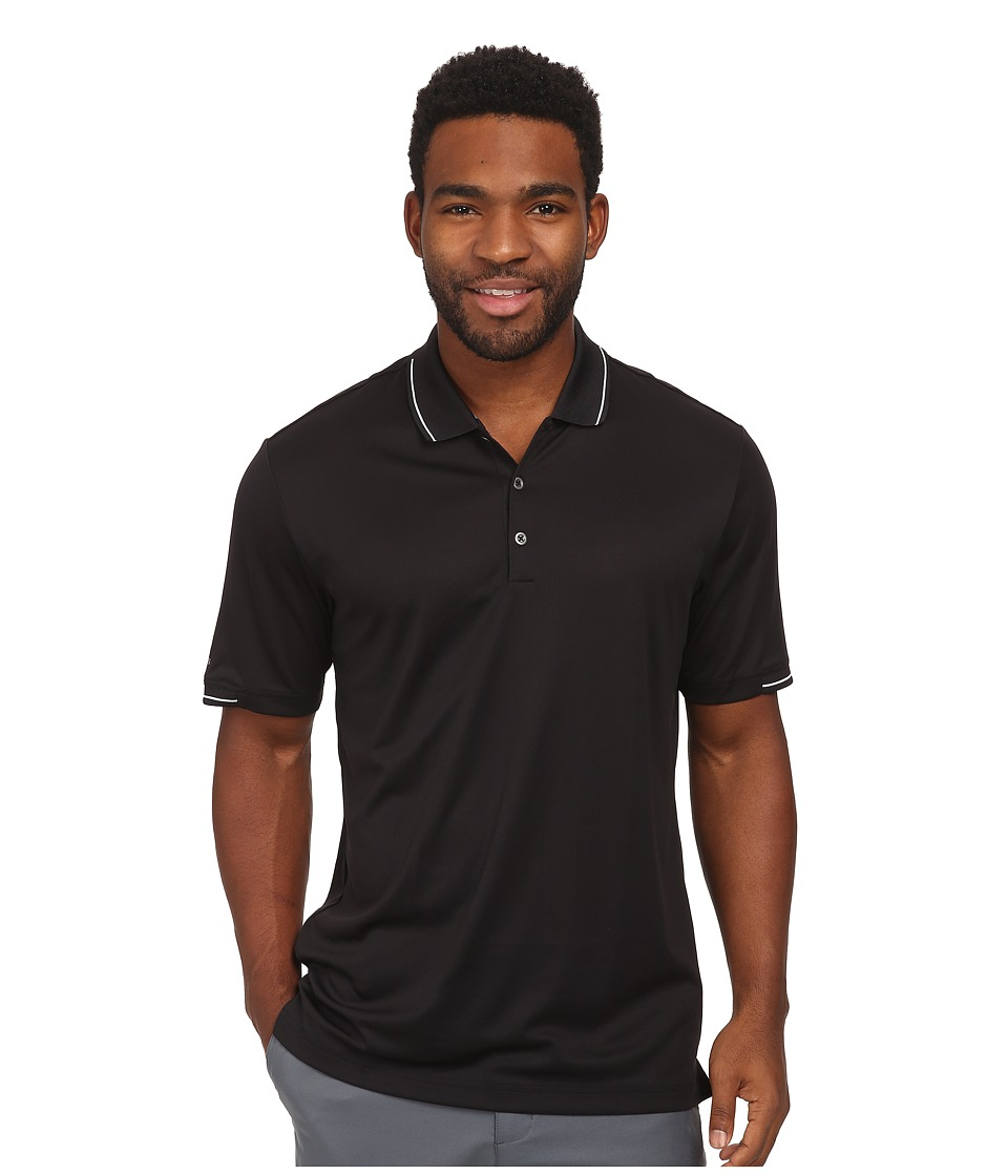 adidas Golf - CLIMACHILL Solid Polo (Black/White) Men's Short Sleeve Knit