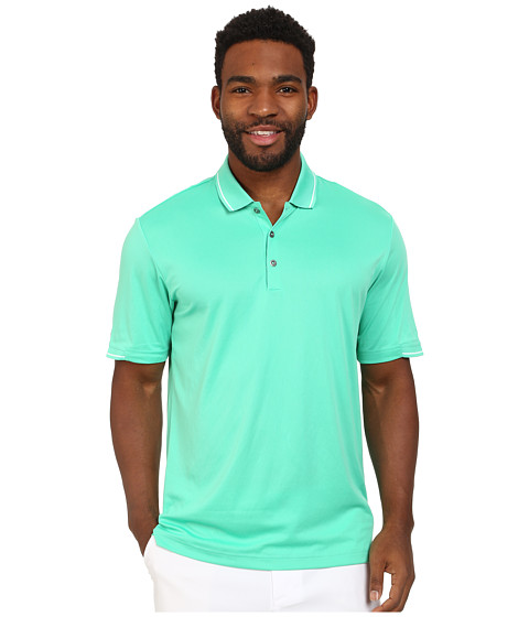 adidas Golf - CLIMACHILL Solid Polo (Bright Green/White) Men