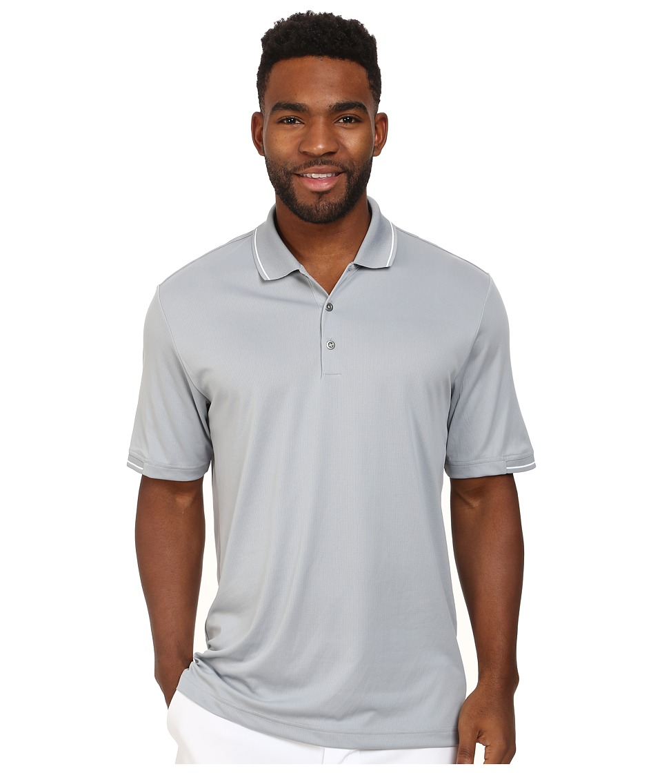 adidas Golf - CLIMACHILL Solid Polo (Mid Grey/White) Men's Short Sleeve Knit