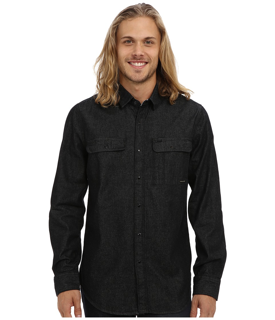 Volcom - Ronson Long Sleeve (Black) Men's Long Sleeve Button Up