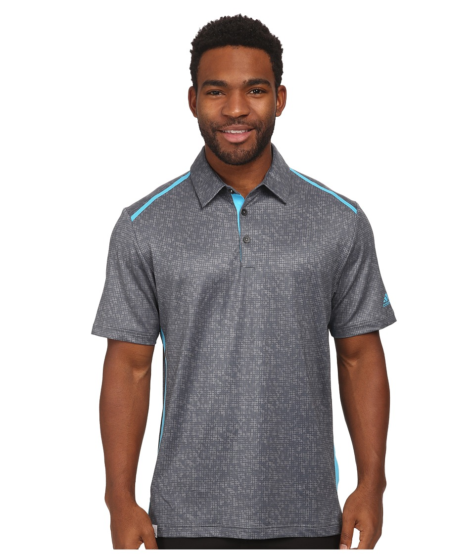 adidas Golf - CLIMACOOL Digital Print Polo (Vista Grey/Lead/Intense Teal) Men's Short Sleeve Knit