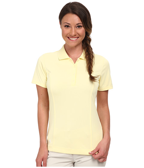 adidas Golf - Climalite Essentials Short Sleeve Solid Polo '15 (Faded Sun/White) Women's Short Sleeve Knit