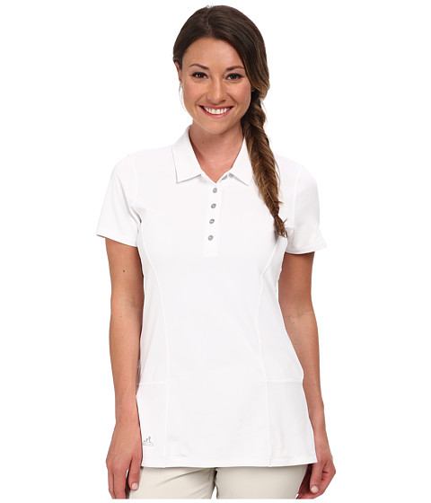 adidas Golf - Climachill Tour Cap Polo '15 (White/White) Women's Short Sleeve Pullover