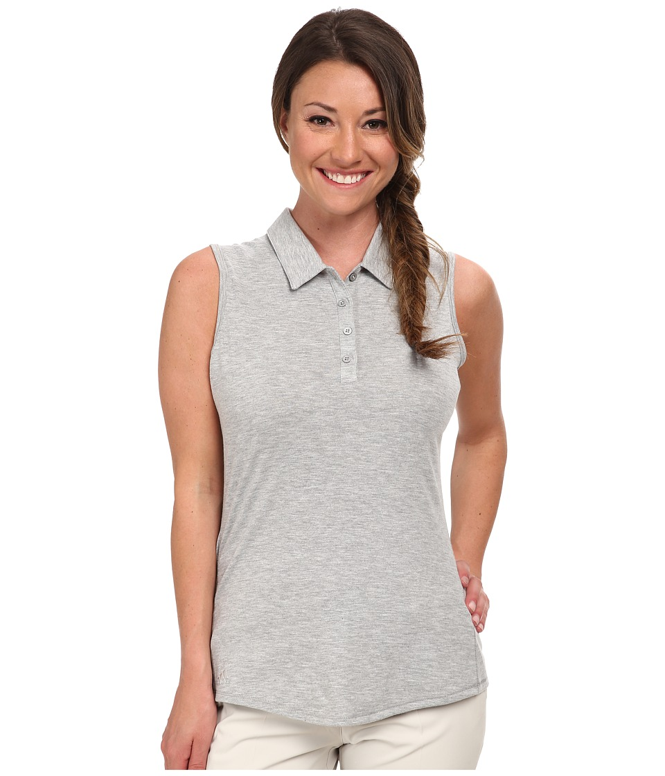 adidas Golf - Climalite Essentials Heather Sleevelees Polo '15 (Medium Grey Heather) Women's Sleeveless
