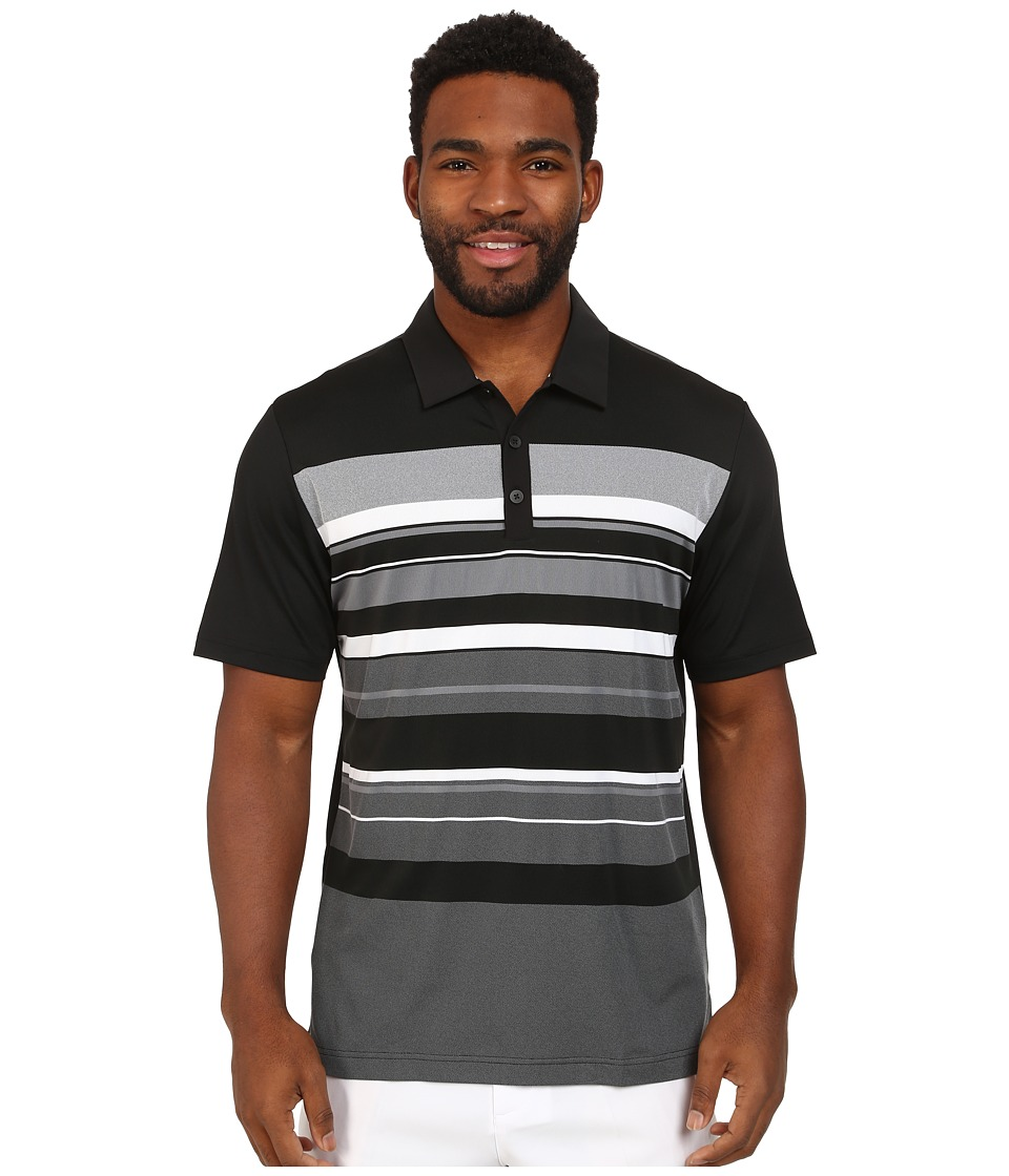 adidas Golf - CLIMACOOL Sport Performance Stripe Polo (Black/White/Vista Grey) Men's Short Sleeve Knit