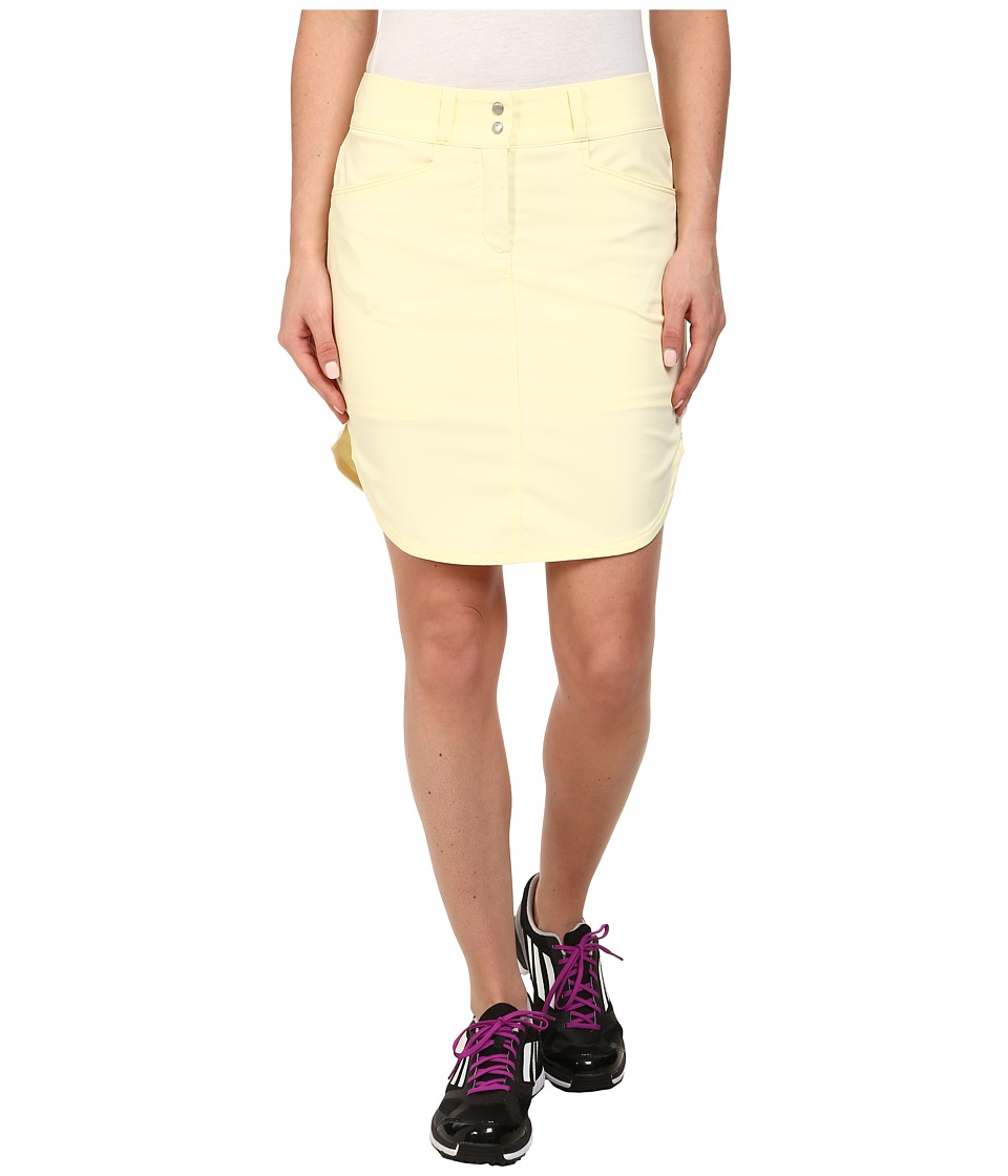 adidas Golf - Essentials 3-Stripes Skort '15 (Faded Sun) Women's Skort