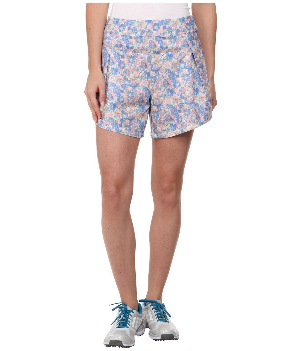 adidas Golf - Tour Floral Flair Short '15 (Chambray/Flash Red) Women's Shorts
