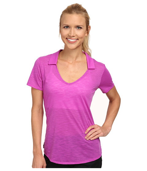 adidas Golf - Climalite Essentials Slub Polo '15 (Flash Pink) Women's T Shirt