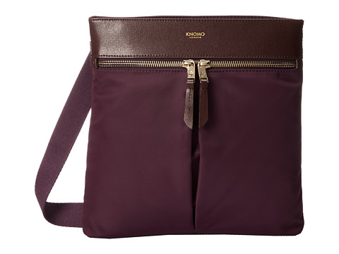 KNOMO London Tilney iPad Mini/Tablet Crossbody Bag (Aubergine) Cross Body Handbags