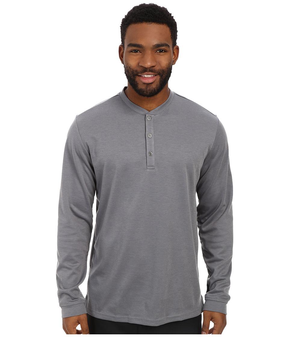 adidas Golf - Travel Dri-Release Wool Henley (Vista Grey) Men's Long Sleeve Pullover