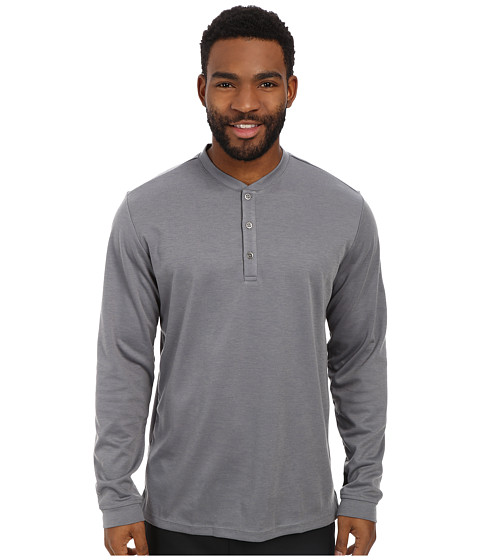 adidas Golf - Travel Dri-Release Wool Henley (Vista Grey) Men's Long Sleeve Pullover