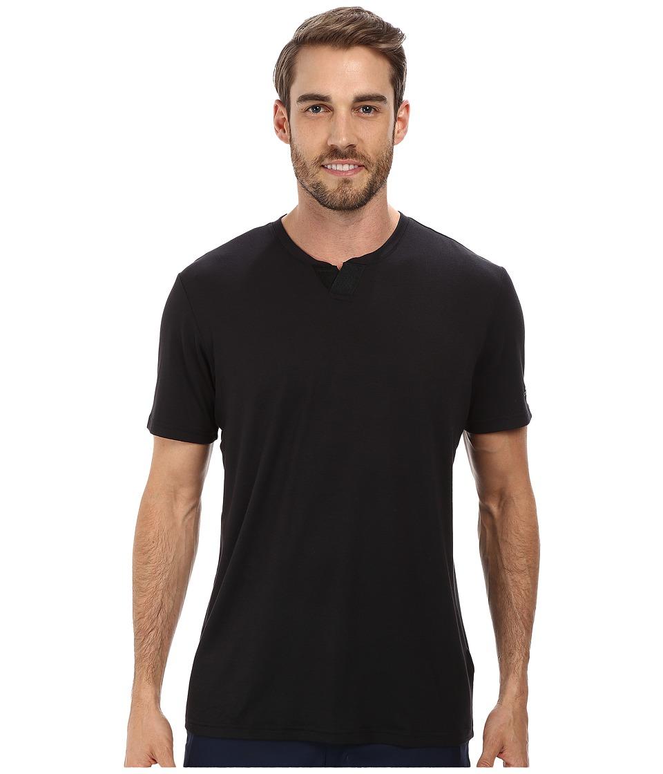 adidas Golf Travel Elements Short Sleeve Shirt (Black) Men