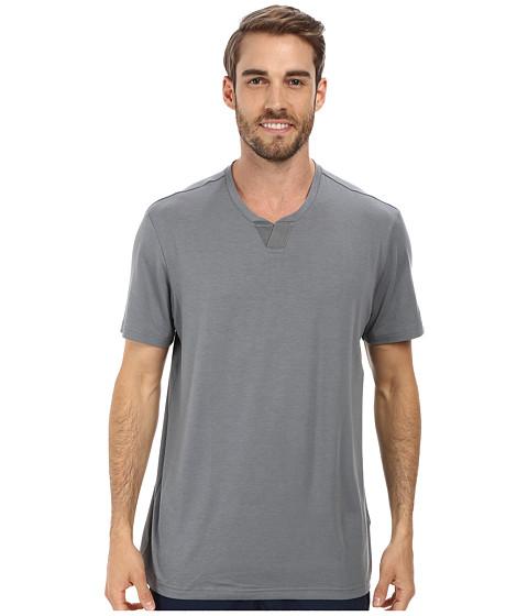 adidas Golf - Travel Elements Short Sleeve Shirt (Vista Grey) Men