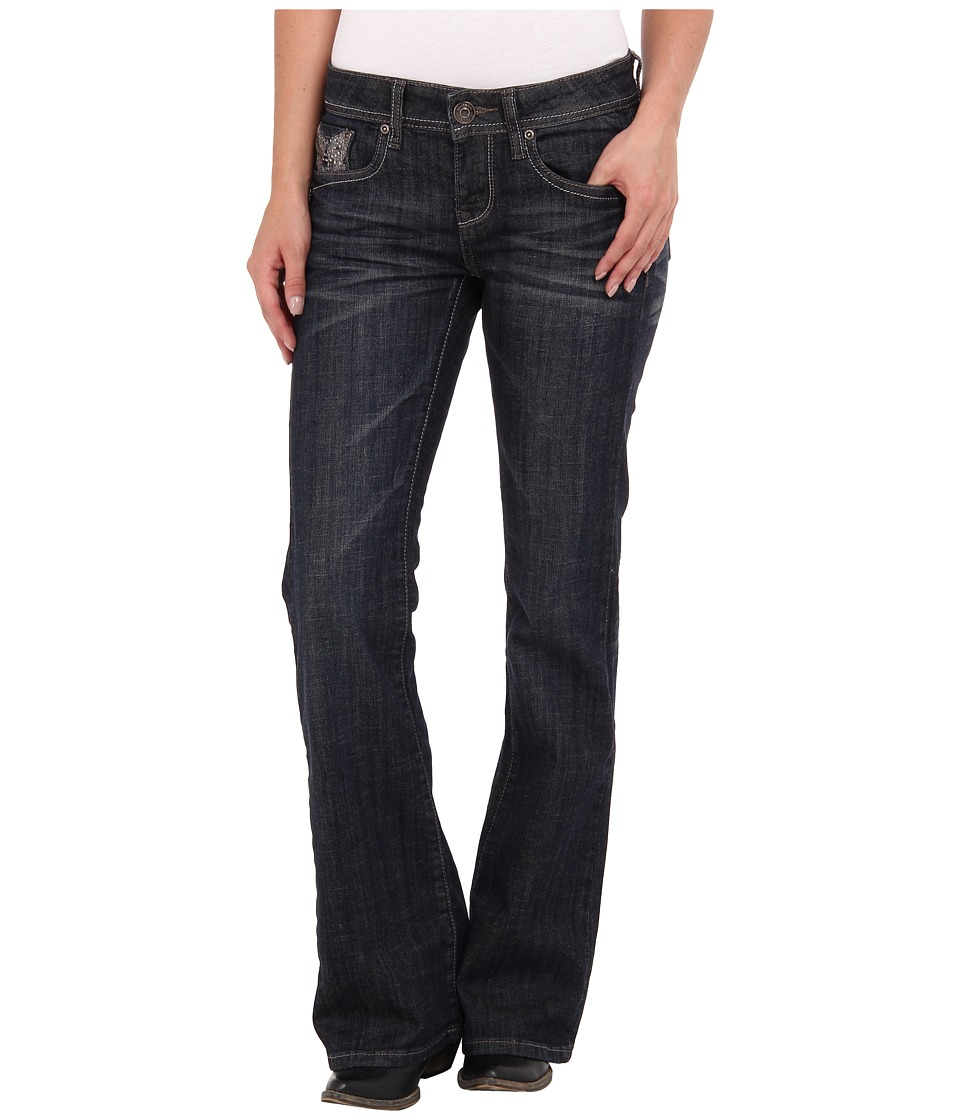 Stetson - 816 Classic Fit Wings Stones (Blue) Women's Jeans