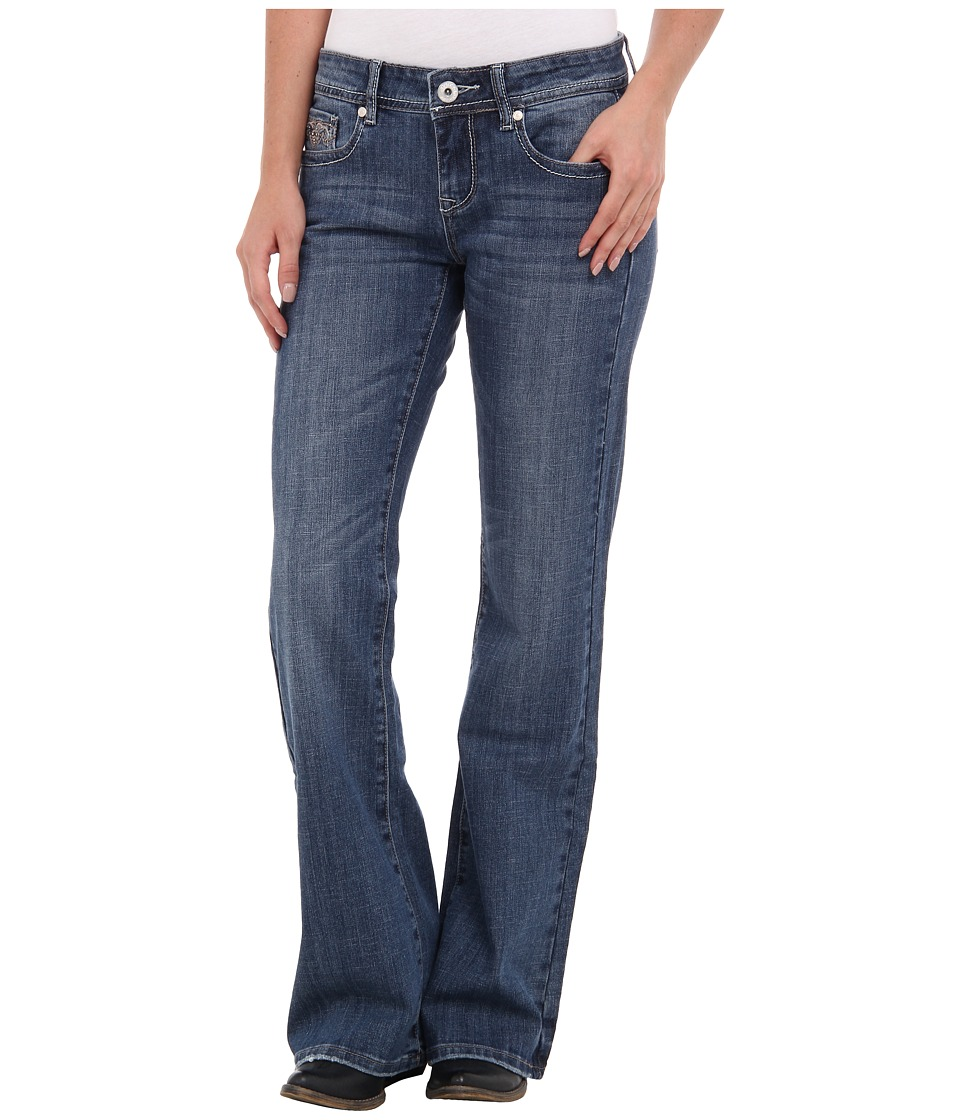 Stetson - 816 Classic Fit Heavy Stud (Blue) Women's Jeans