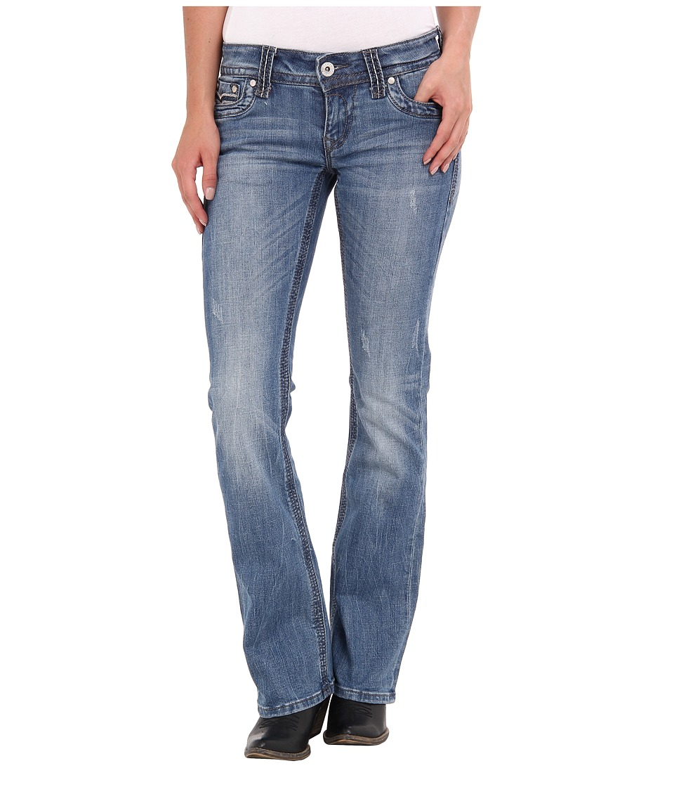 Stetson - 818 Hollywood Fit Heavy Stitch Flaps (Blue) Women's Jeans