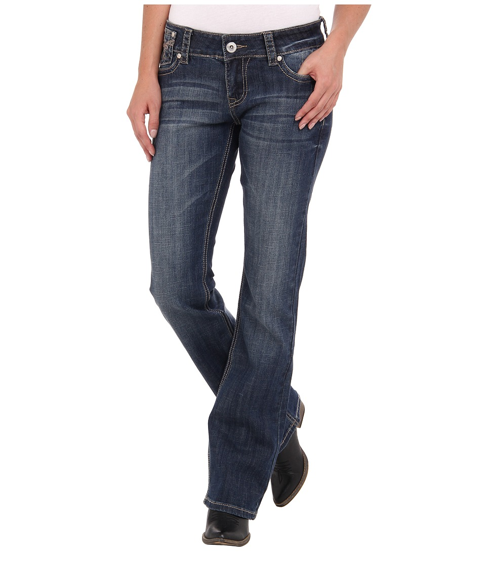 Stetson - 818 Hollywood Fit Stones Flaps (Blue) Women's Jeans