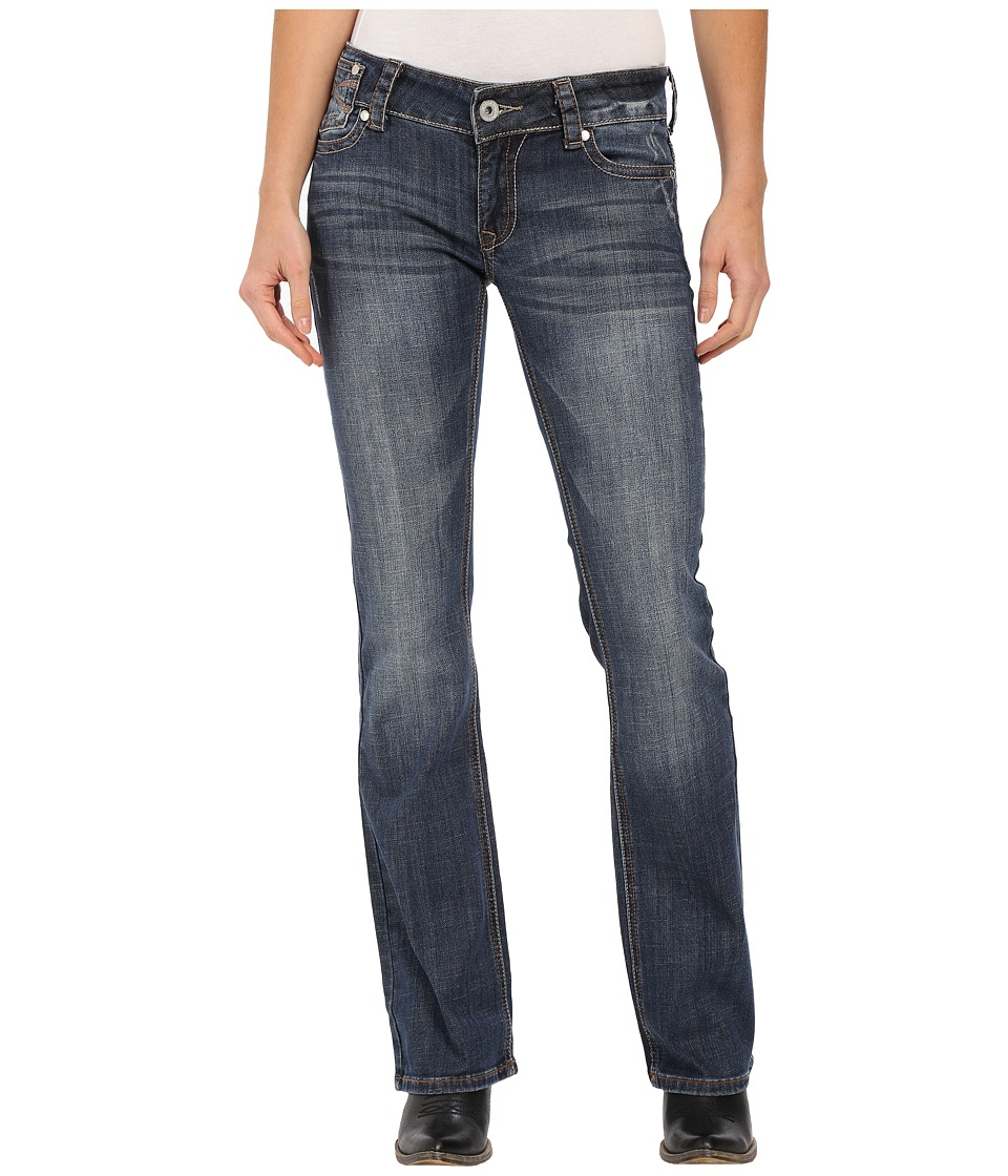 Stetson - 818 Hollywood Fit 7 Line (Blue) Women's Jeans