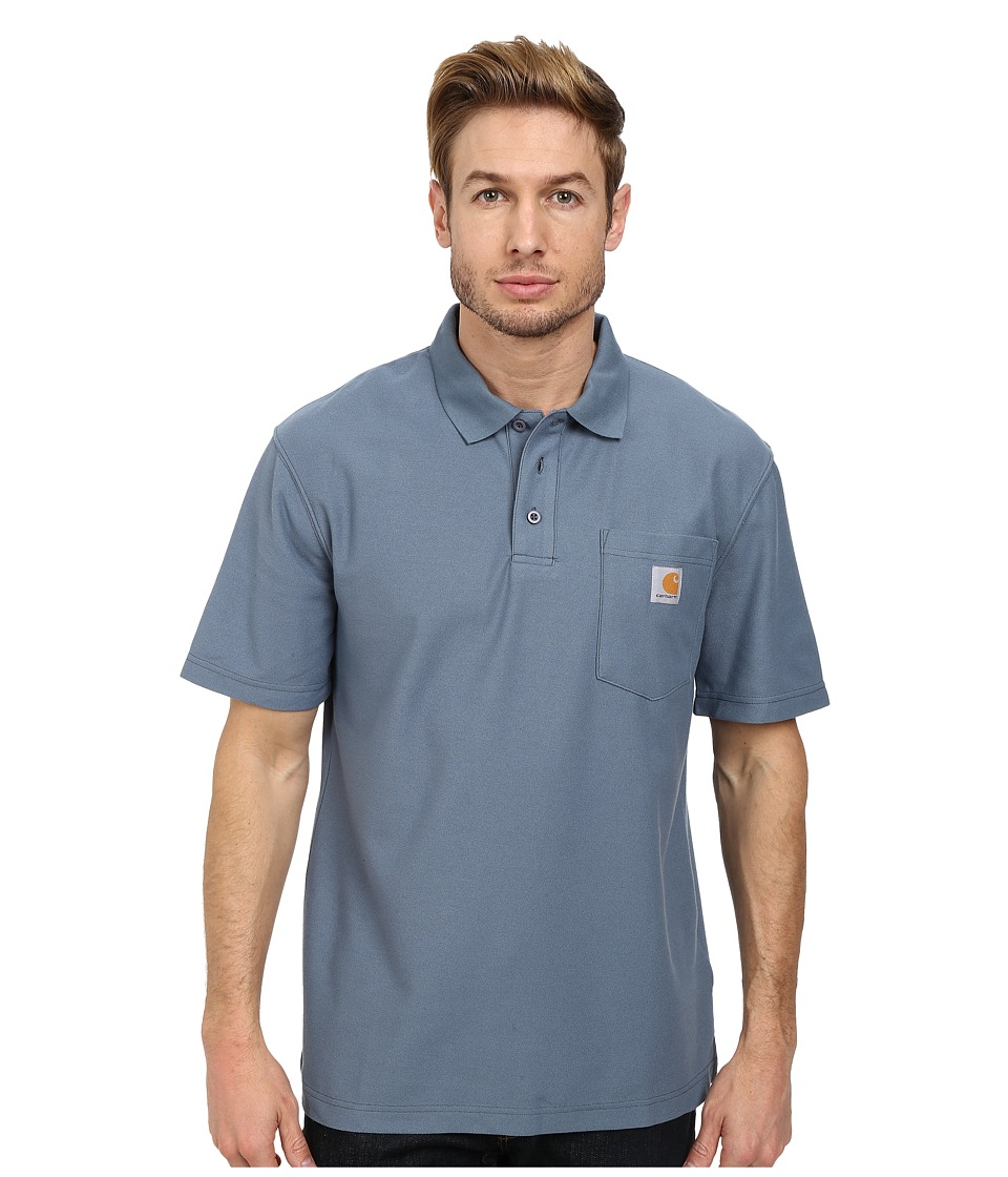 Carhartt - Contractors Work Pocket Polo (Steel Blue) Men